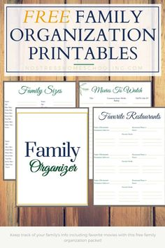 Its time to update your home management binder with these family organization printables. Keep track of fav restaurants, fav. movies & more. Free Printable Worksheets, Printables, Paper Binder, Home Binder, Household Binder, Home Management Binder, Home Organization Hacks, Free Planner, Family Organizer