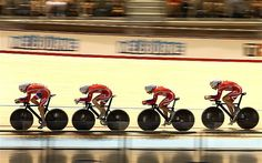 Marker: Great Britain's men's team pursuit side produced an epic ride to take gold at the Track Cycling World Championships... Picture: GETTY IMAGES