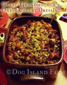 It is time to shareone of my favorite Thanksgiving dishes – the Stuffing, or in this case, the Dressing. This is a recipe my mom has made for as long as I can remember, which she got from her grandmother – my great grandmother. My great-grandmother called it her Celery Onion Dressing, but this is [