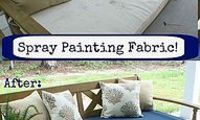 Revamping patio furniture cushions with Spray paint!