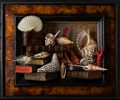 Still Life with Shells and Books - by Kevin Best