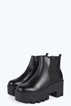 Emma Deep Elastic Cleated Boot £25