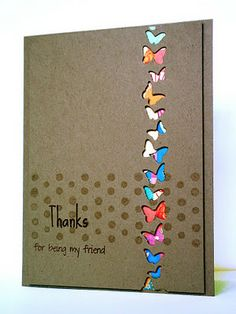 good idea with any specialty hole punch. plain cardstock with the holes punched and some print paper behind it.