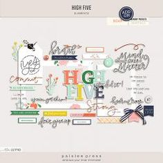 High Five Elements Pack by paislee press