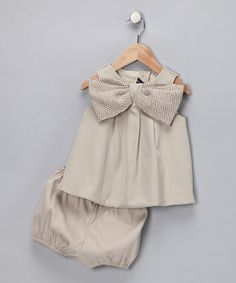 Gray Lydia Dress & Diaper Cover