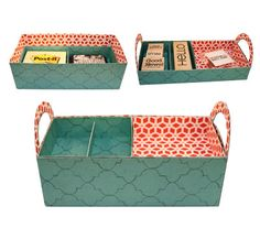 Bits of Paper: Divided Stacking Box Tray