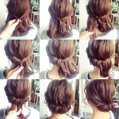 25 fast hairstyles for medium and long hair for every day. - hairstyleto - 25 fast hairstyles for medium and long hair for every day. – hairstyleto 25 fast hairstyles for medium and long hair for every day. Medium Hair Styles, Curly Hair Styles, Short Styles, Updo Styles, Hair Medium, Medium Length Hair Updos, Updos For Medium Length Hair Tutorial, Styling Shoulder Length Hair, Shoulder Hair Styles