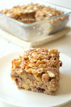 A Sugar Free, Gluten Free and Healthy Breakfast! Healthy Bars, Healthy Baking, Healthy Treats, Breakfast Juice, Breakfast Recipes, Pureed Food Recipes, Cooking Recipes, Healthy Birthday Cakes, Fab Cakes