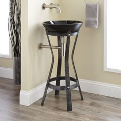 Pontmercy Wrought Iron Sink Stand
