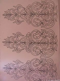 Zoom zoom Nail Ideas nail ideas for kids Hand Embroidery Designs, Ribbon Embroidery, Embroidery Stitches, Embroidery Patterns, Machine Embroidery, Stencil Patterns, Stencil Designs, Border Design, Pattern Design
