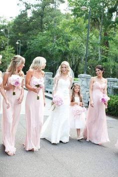 Love the bridesmaids dresses and the bouquet! The color scheme is just magnificent!