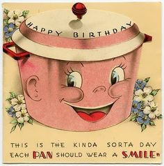 Are you wearing your birthday smile? :) #vintage #birthday #cards