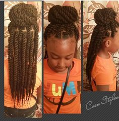 Kid`s Marley Twists. so cute and will last longer than a couple of days like other styles! If you liked this pin, click now for more details. Lil Girl Hairstyles, Natural Hairstyles For Kids, Braided Hairstyles, Doll Hairstyles, Kids Hairstyle, Stylish Hairstyles, Dreadlock Hairstyles, African Hairstyles, Short Hairstyles