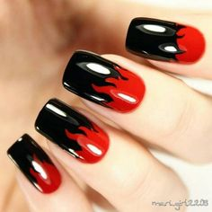 Stylish Red and Black Nail Designs You'll Love ❤️? Stylish Red and Black Nail Designs You'll Love Stylish Red and Black Nail Designs You'll Love ❤️? Red Black Nails, Black Nail Art, White Nails, Red Nails, White Nail Designs, Nail Art Designs, Gothic Nails, Nagel Gel, Nail Decorations