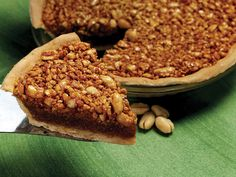 Virginia Diner Peanut Pie - On sweeter side, cut back on sugar and corn syrup for less sweetness