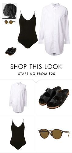 """Untitled #269"" by erin-bittencout on Polyvore featuring moda, T By Alexander Wang, Topshop e Ray-Ban"