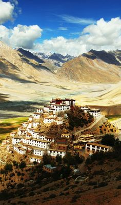 Key Gompa - Tibetan Buddhist monastery located on top of a hill at an altitude of 4,166 metres above sea level. | Spiti Valley, India