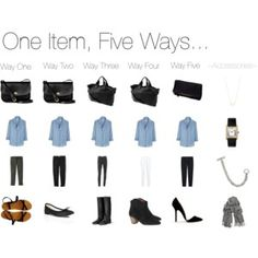 One Item, Five Ways... Chambray Shirt