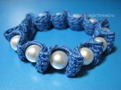 cute bracelet - crocheted