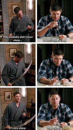 [gifset] 8x13 Everybody Hates Hitler vs. 9x05 Dog Dean Afternoon #SPN #Dean
