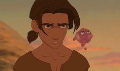 Jim Hawkins and Morph from Treasure Planet