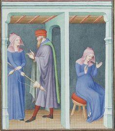 Publius Terencius Afer, Comoediae [comédies de Térence] ca. 1411;  Bibliothèque de l'Arsenal, Ms-664 réserve, 226r