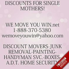 """WE MOVE YOU WIN! http://dld.bz/cQaZH 1-888-370-5380  text 248-639-0621 . """"Team"""" for Jobs """"Discounts"""" for Quotes"""