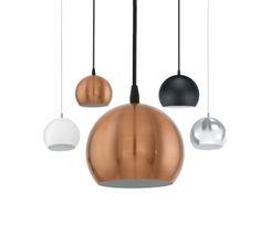 Petto Sphere Pendant Light Copper White Black or Chrome Eglo  sc 1 st  Pinterest & Tarbes Small 1 Light Black or Copper Cage Ceiling Pendant Eglo 94193 ...