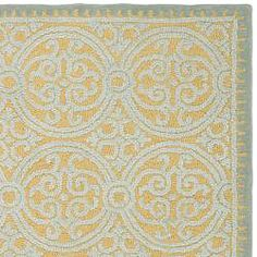 @Overstock - This Cambridge rug features handmade, wool construction and a soft 0.5-inch pile. This blue rug features a bold geometric pattern with accents of gold and varying pile heights for added interest.http://www.overstock.com/Home-Garden/Handmade-Cambridge-Blue-Wool-Rug-5-x-8/5151661/product.html?CID=214117 $171.99