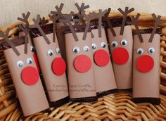 Preschool Crafts for Kids*: Christmas Reindeer Chocolate bars Craft Kids Crafts, Preschool Crafts, Free Preschool, Elderly Crafts, Easy Crafts, Toddler Crafts, Christmas Projects, Holiday Crafts, Holiday Fun