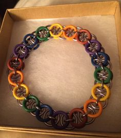 The Rainbow Connection Bracelet in Chainmaille by inthespicerack