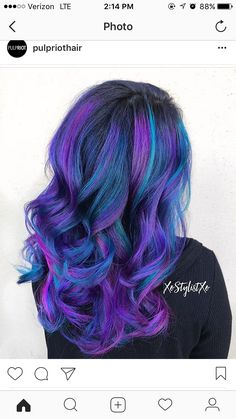 Pulp Riot dye, purple and blue hair