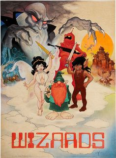 Set millions of years in the future, Wizards (1977) is a classic Ralph Bakshi film that tells the tale of two battling forces of technology and nature.