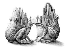 Por Amor al Arte: Fascinantes ilustraciones de Redmer Hoekstra Art And Illustration, Amazing Drawings, Cool Drawings, Mago Tattoo, Metamorphosis Art, Art Doodle, Drawn Art, Art Plastique, Surreal Art