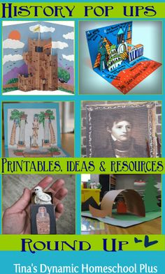 History Pop Up Printables, Ideas and Resources Roundup