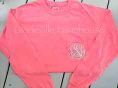 Monogrammed+Long+Sleeve+Comfort+Colors+by+GladevilleFarmhouse,+$26.00