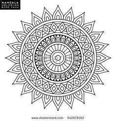 Find Flower Mandala Vintage Decorative Elements Oriental stock images in HD and millions of other royalty-free stock photos, illustrations and vectors in the Shutterstock collection. Mandala Simple, Easy Mandala Drawing, Mandala Art Lesson, Mandala Doodle, Mandala Artwork, Pattern Coloring Pages, Mandala Coloring Pages, Coloring Book Pages, Croquis Mandala