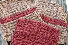 From the pattern description on Deb's website: Waffle Knit Dishclothes