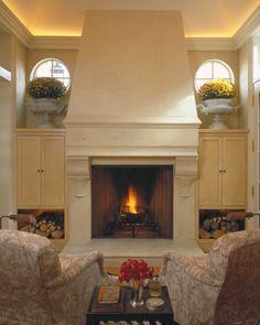 Fireplace + architectural detailing. via Hickman Interiors.