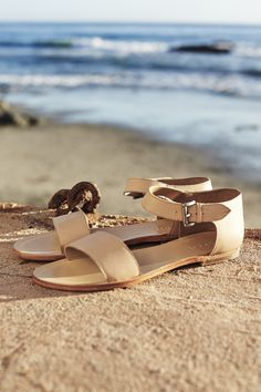 Feminine #Esprit #SS15 summer leather #sandals - every woman should have some nice #shoes for the beach.