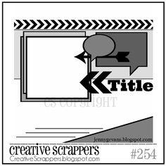Creative Scrappers Sketch 254 - Scrapbook.com