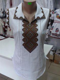Short Kurti Designs, Baby Vest, Crochet Tablecloth, Crochet Projects, Cross Stitch, Embroidery, Blouse, Inspiration, Dresses