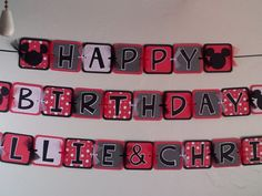 Minnie Mouse Birthday Party Banner Party Decorations Mickey Mouse