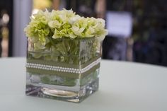 Table centerpieces for the pub tables at our wedding that my mom made
