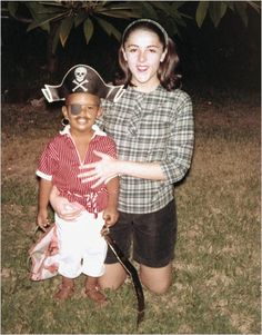 "A childhood photo of Barack Obama as a pirate from the NY Times Magazine article ""Obama's Young Mother Abroad""."