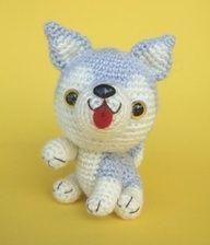crochet husky pup doll...very cute!