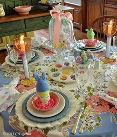 Easter Tablescape using Fiesta® Dinnerware | The Little Round Table