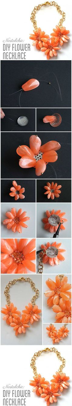 Diy Flower Necklace | DIY & Crafts Tutorials