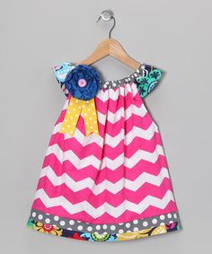 Take a look at this Pink Chevron Dress - Infant, Toddler & Girls by MarKoos Modern Design on #zulily today!