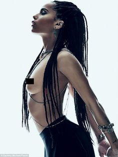 Bare beauty: Zoe Kravitz goes topless in a new photoshoot for Flaunt magazine...